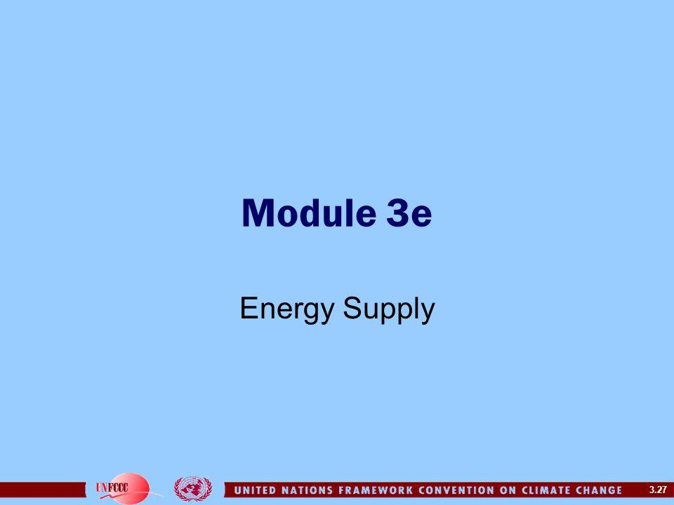 Module 3e Energy Supply