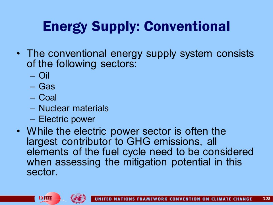 Energy Supply: Conventional