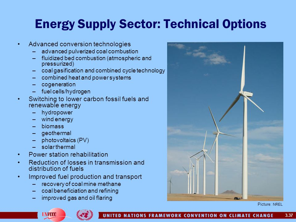 Energy Supply Sector: Technical Options