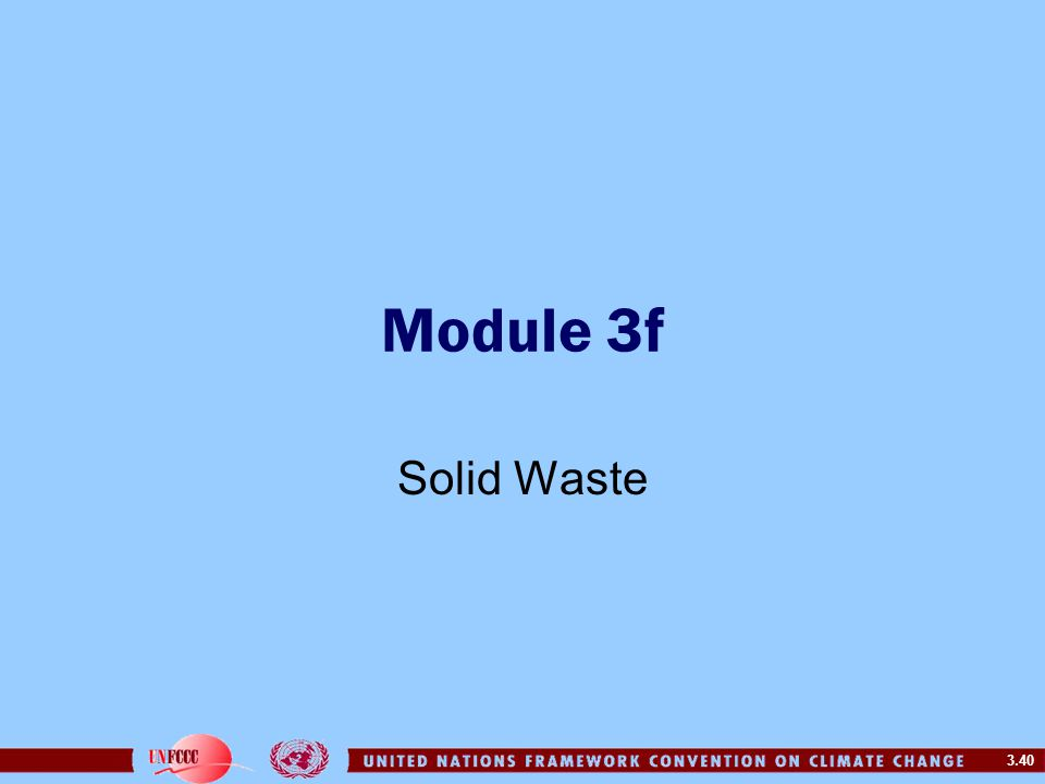 Module 3f Solid Waste