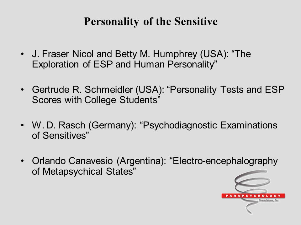 Personality of the Sensitive