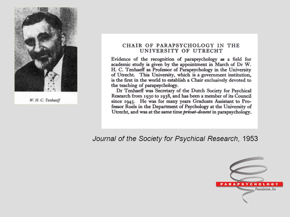 Journal of the Society for Psychical Research, 1953