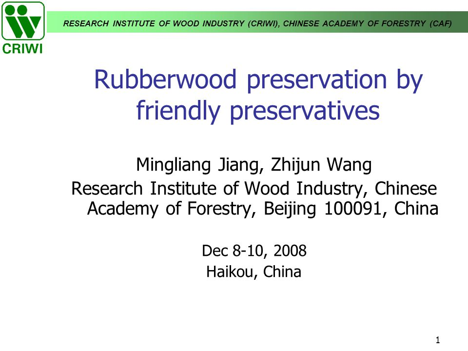 Rubberwood preservation by friendly preservatives