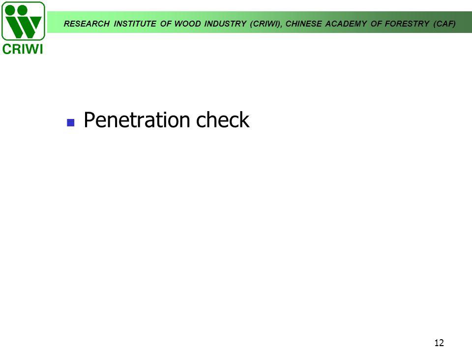 Penetration check