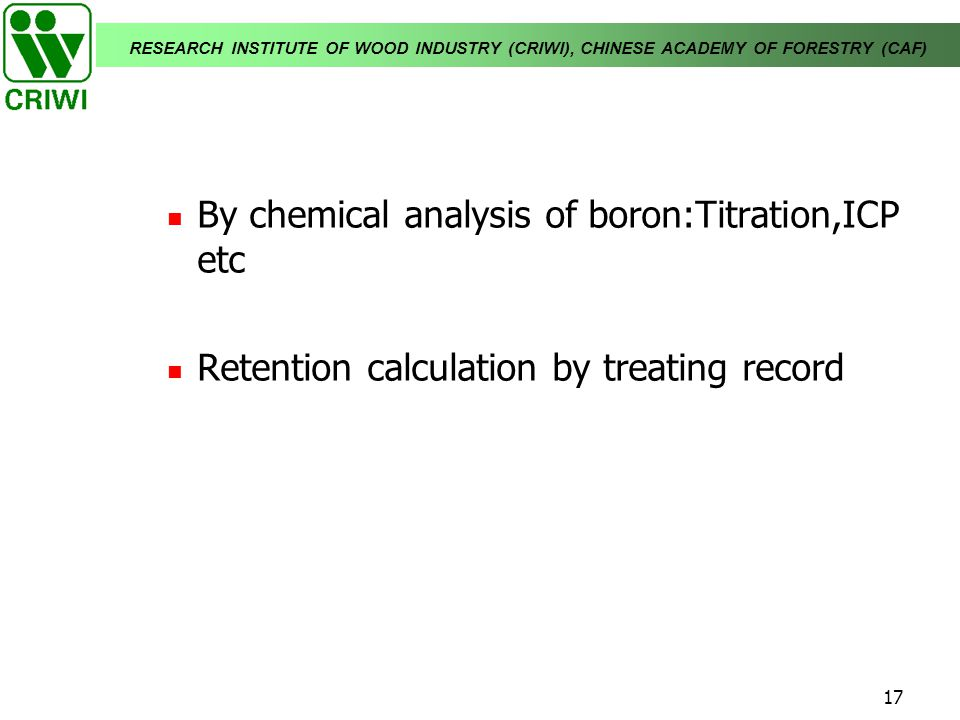 By chemical analysis of boron:Titration,ICP etc