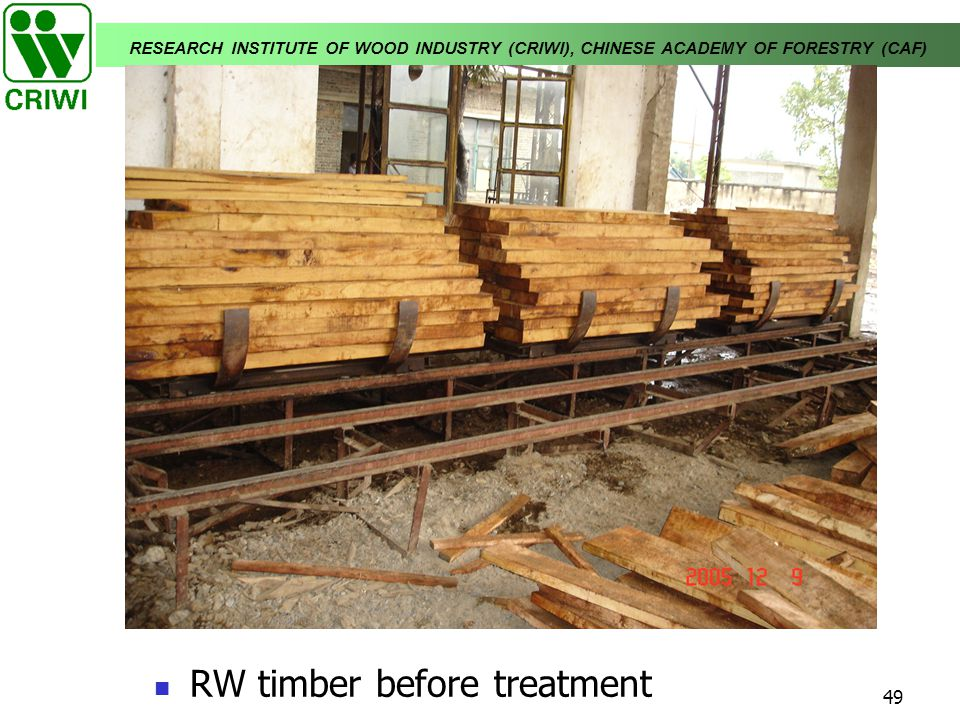 RW timber before treatment