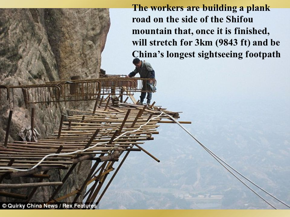 The workers are building a plank