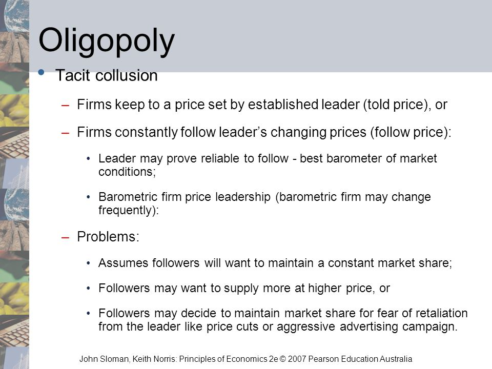 Oligopoly Tacit collusion