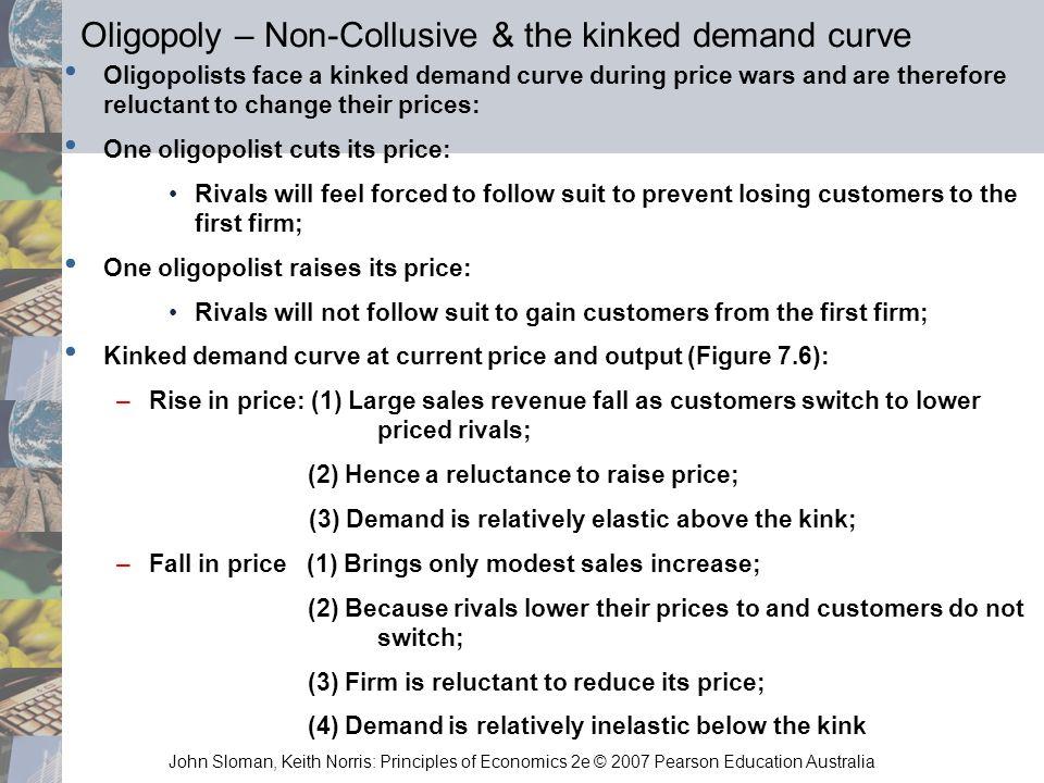 Oligopoly – Non-Collusive & the kinked demand curve