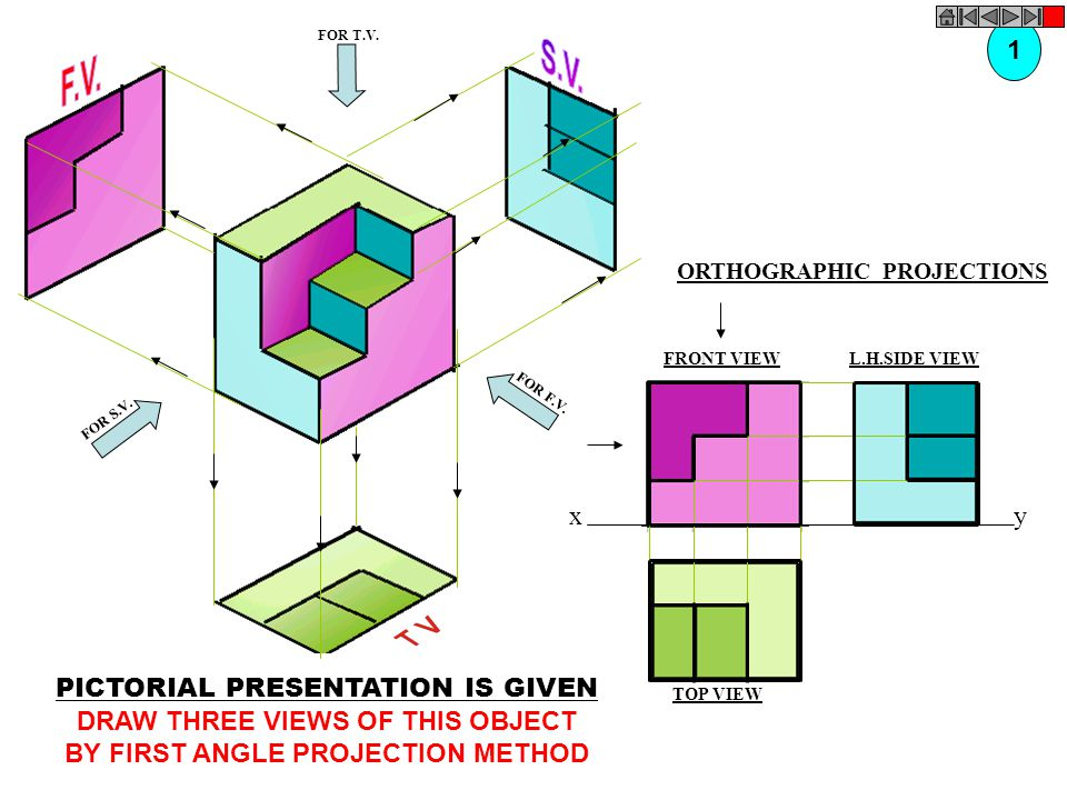 DRAW THREE VIEWS OF THIS OBJECT BY FIRST ANGLE PROJECTION METHOD