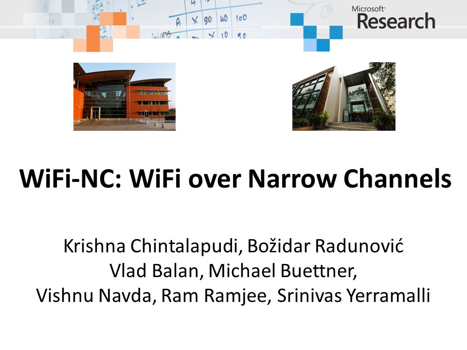 WiFi-NC: WiFi over Narrow Channels