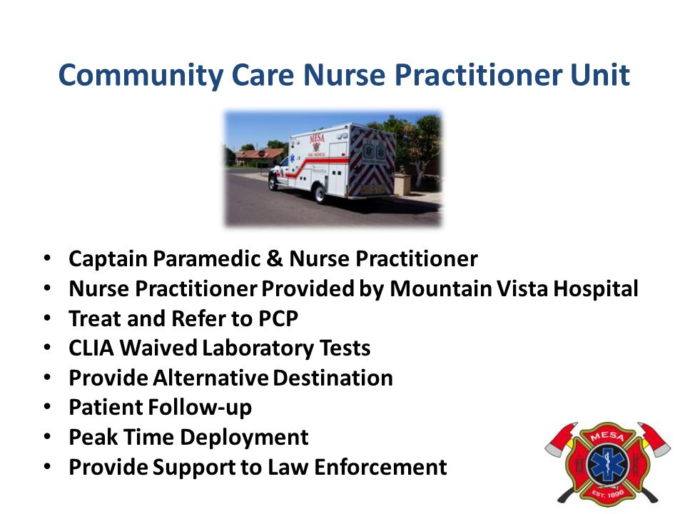 Community Care Nurse Practitioner Unit