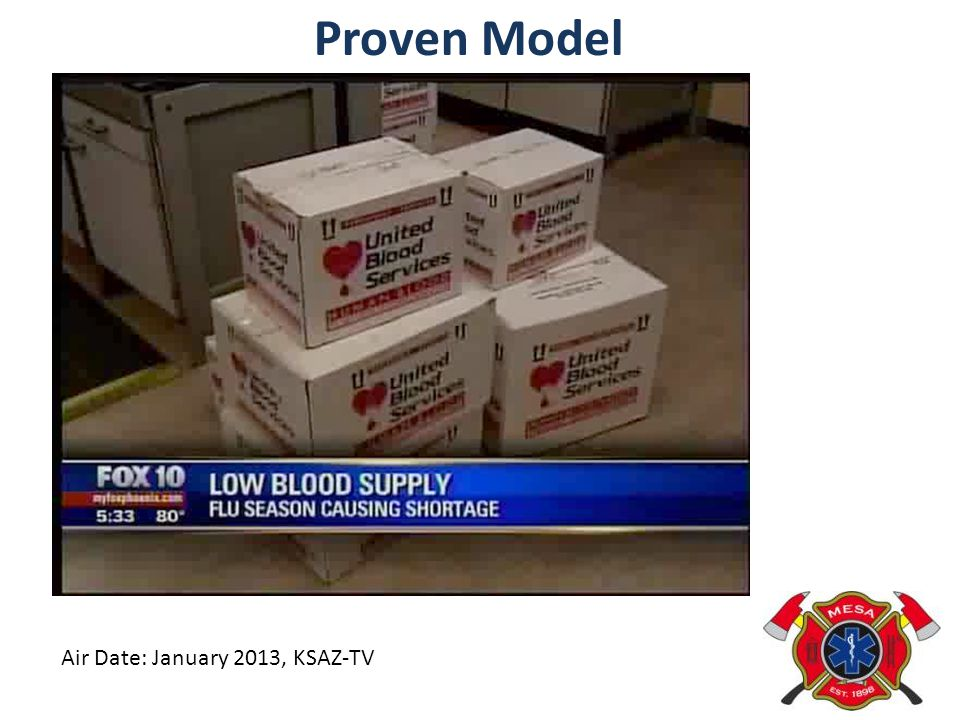 Proven Model Air Date: January 2013, KSAZ-TV
