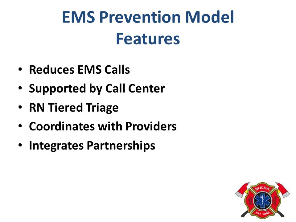 EMS Prevention Model Features