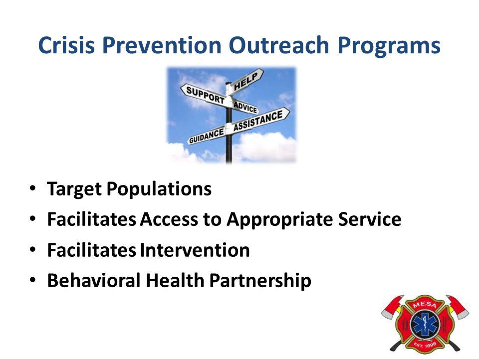 Crisis Prevention Outreach Programs