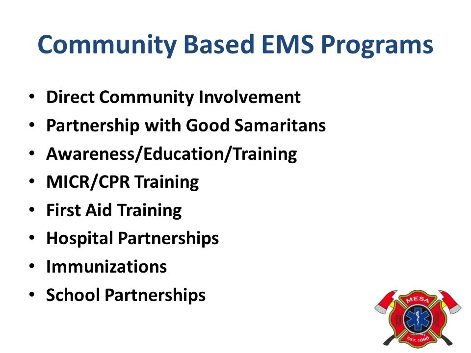 Community Based EMS Programs