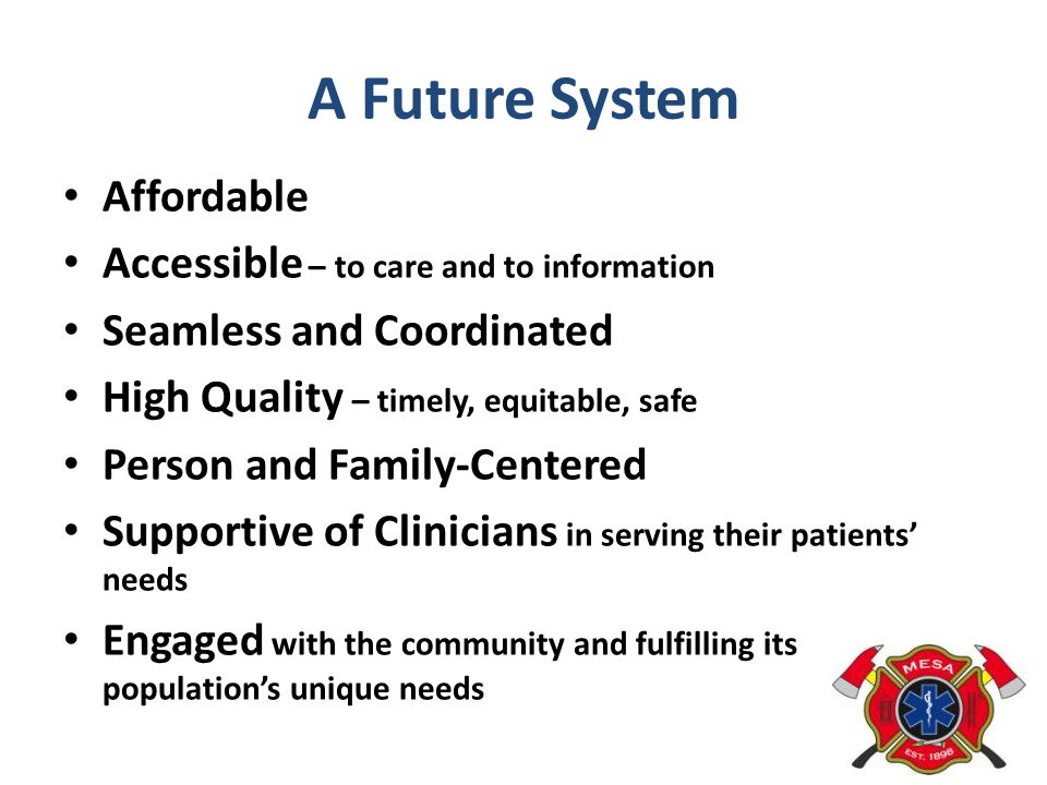 A Future System Affordable Accessible – to care and to information