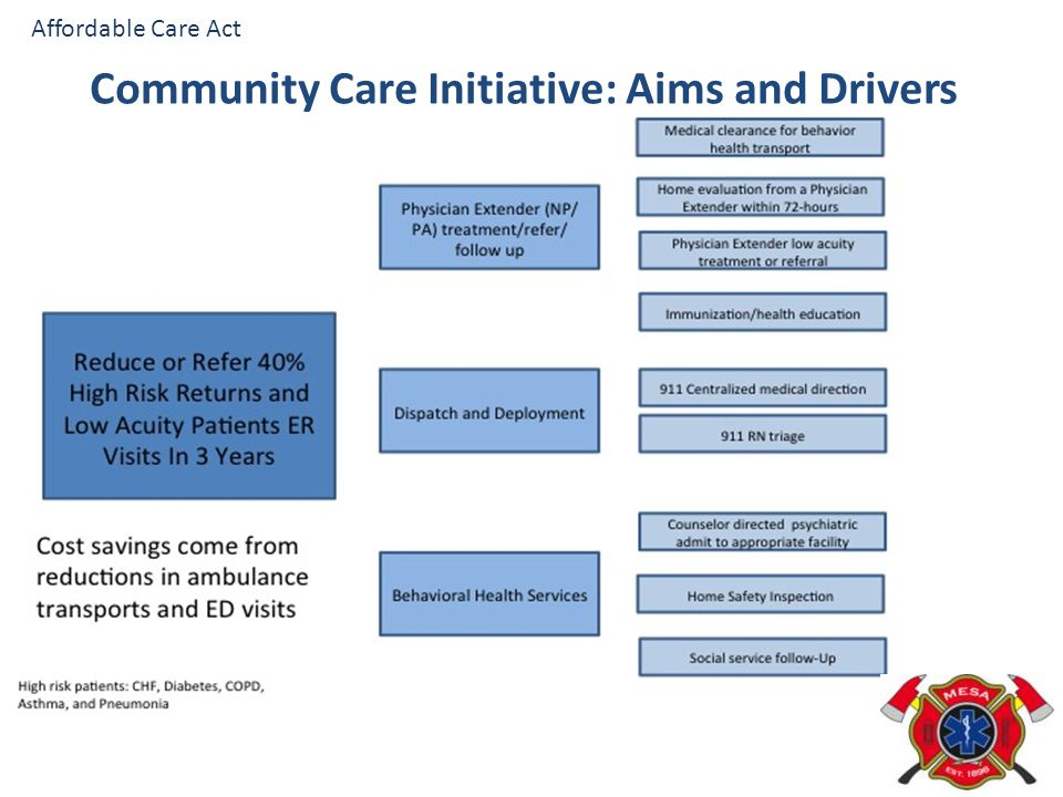 Community Care Initiative: Aims and Drivers