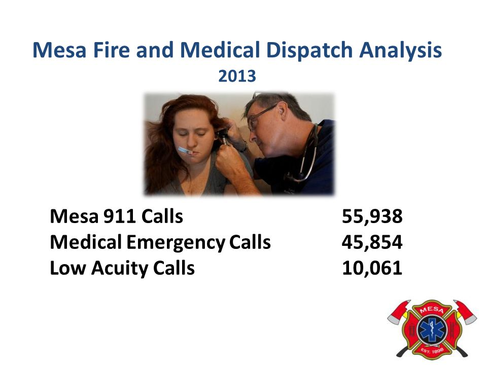 Mesa Fire and Medical Dispatch Analysis 2013