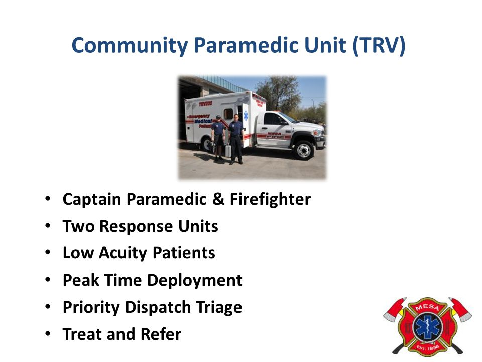 Community Paramedic Unit (TRV)