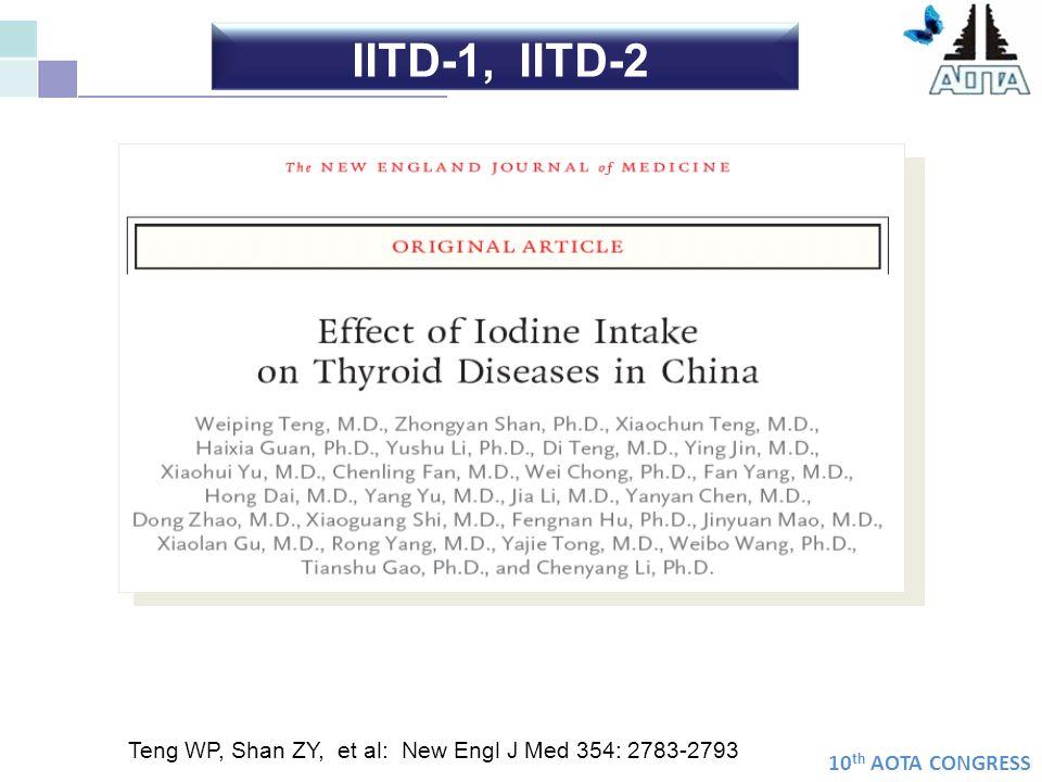 IITD-1, IITD-2 Teng WP, Shan ZY, et al: New Engl J Med 354: 2783-2793