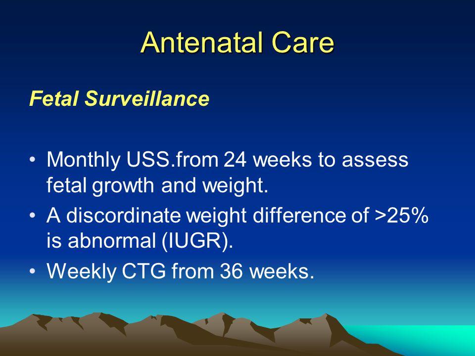 Antenatal Care Fetal Surveillance