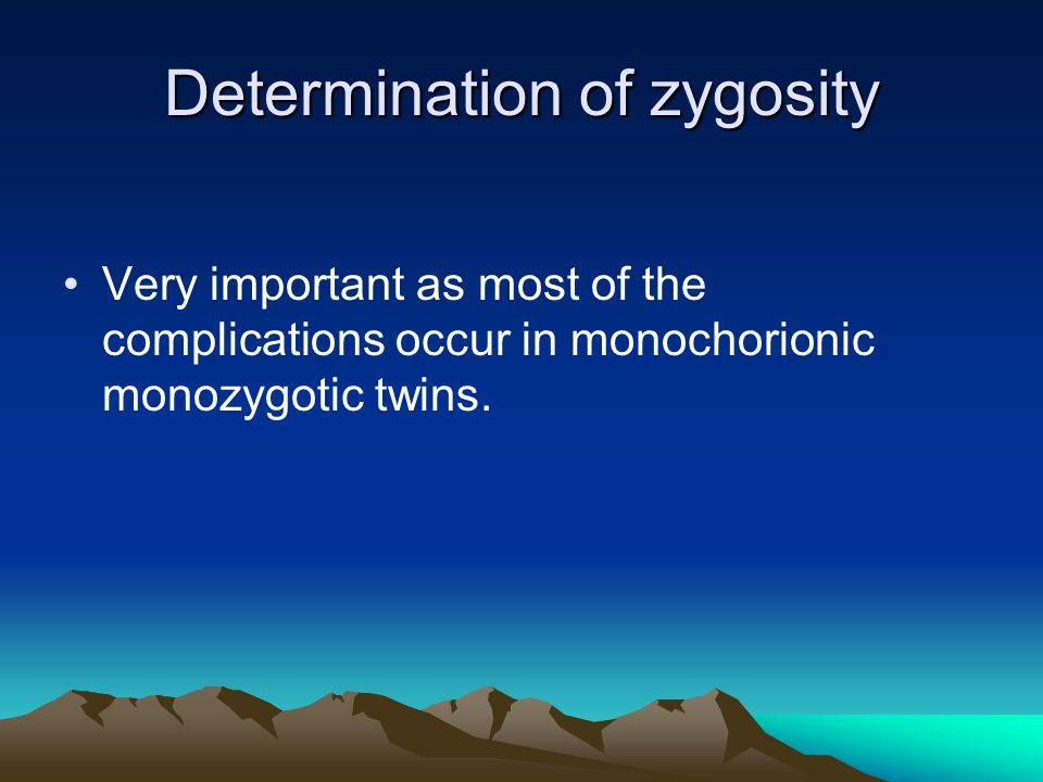 Determination of zygosity