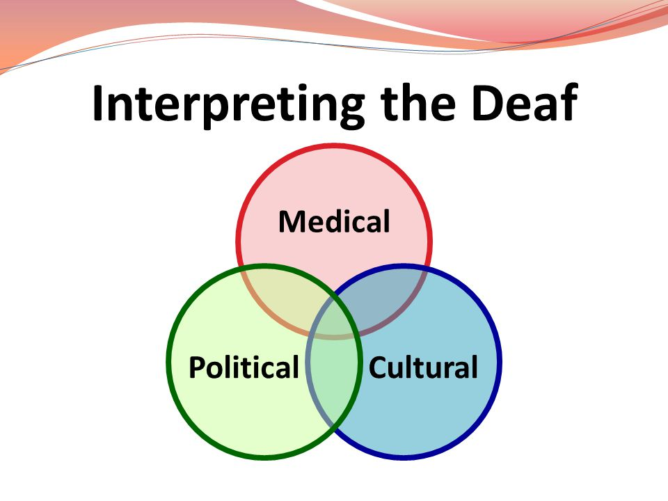 Interpreting the Deaf Medical Cultural Political