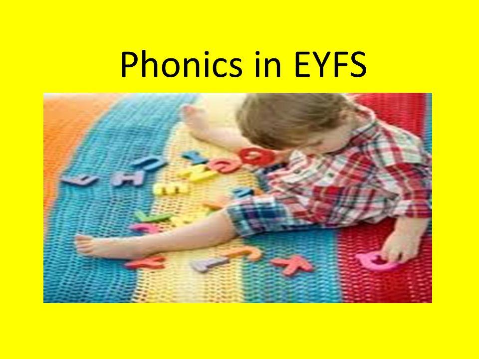 Phonics in EYFS
