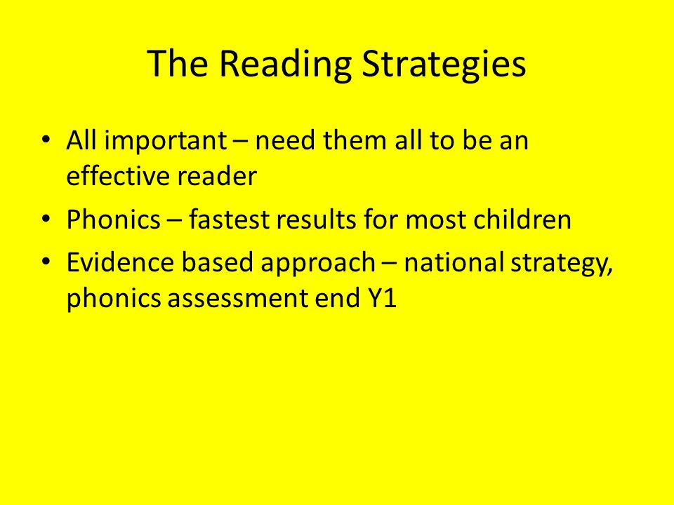 The Reading Strategies