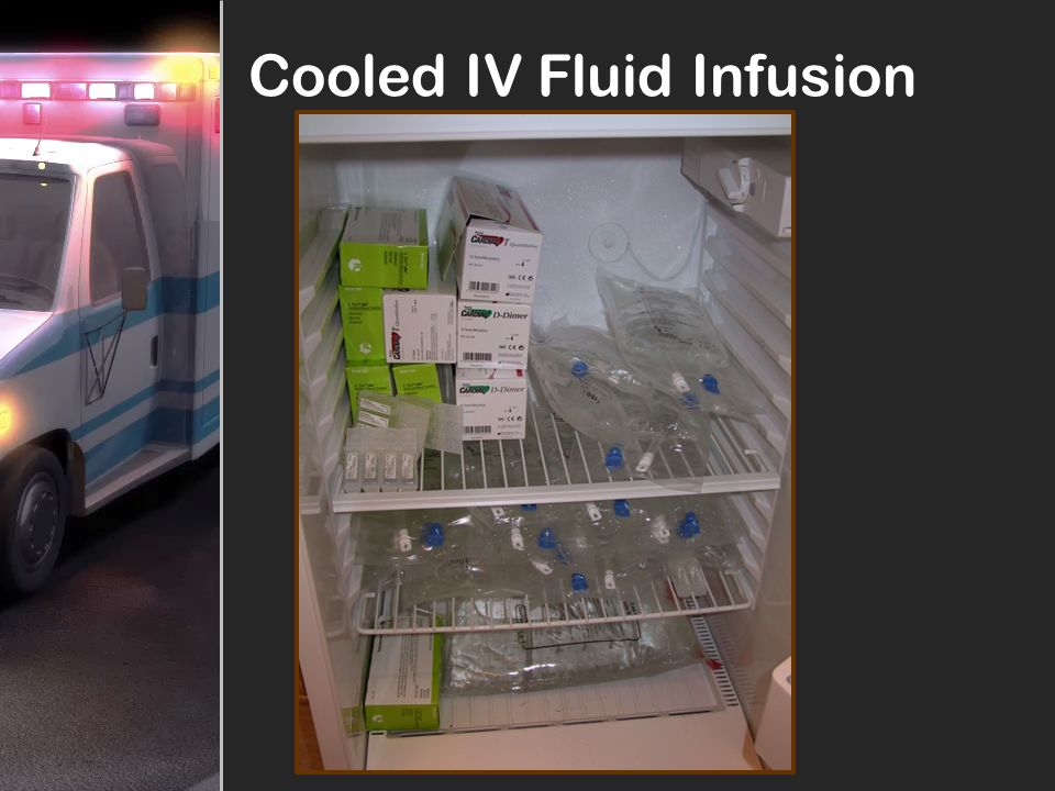 Cooled IV Fluid Infusion