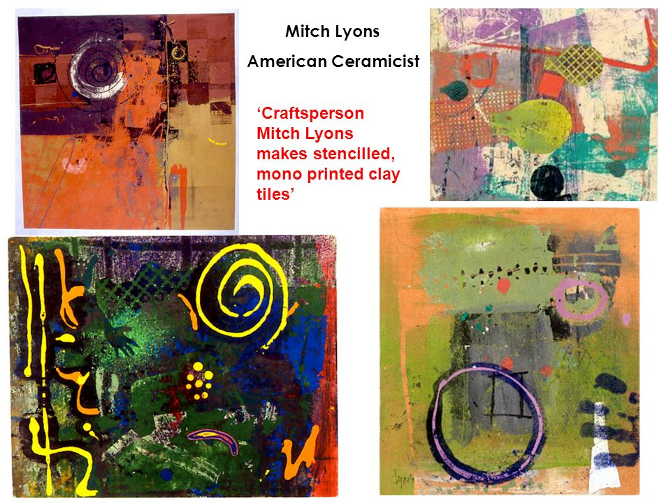 Mitch Lyons American Ceramicist.