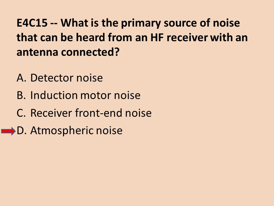 E4C15 -- What is the primary source of noise that can be heard from an HF receiver with an antenna connected