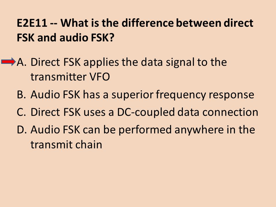 E2E11 -- What is the difference between direct FSK and audio FSK