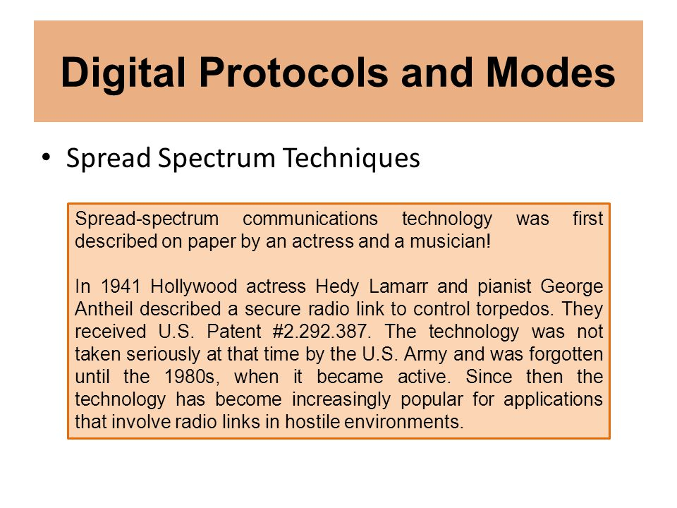 Digital Protocols and Modes