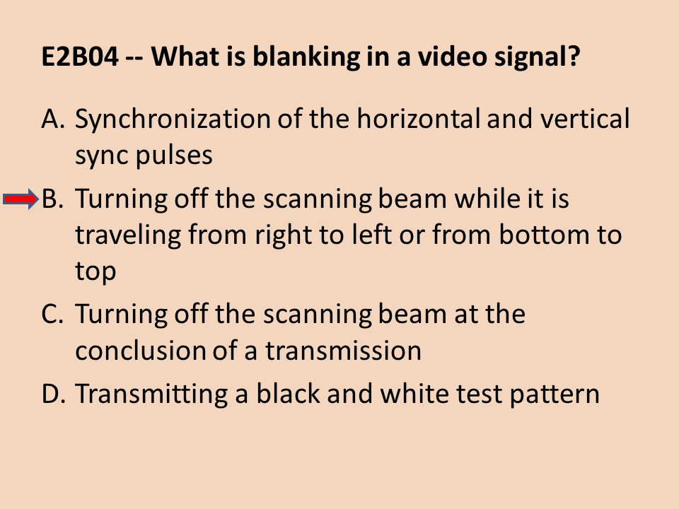 E2B04 -- What is blanking in a video signal