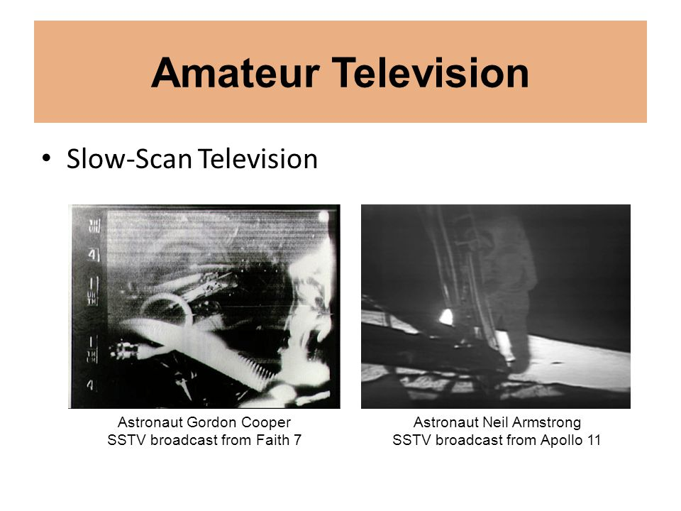 Amateur Television Slow-Scan Television Astronaut Gordon Cooper