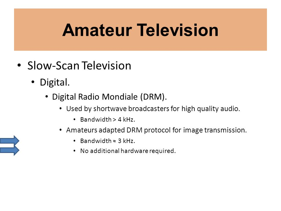 Amateur Television Slow-Scan Television Digital.