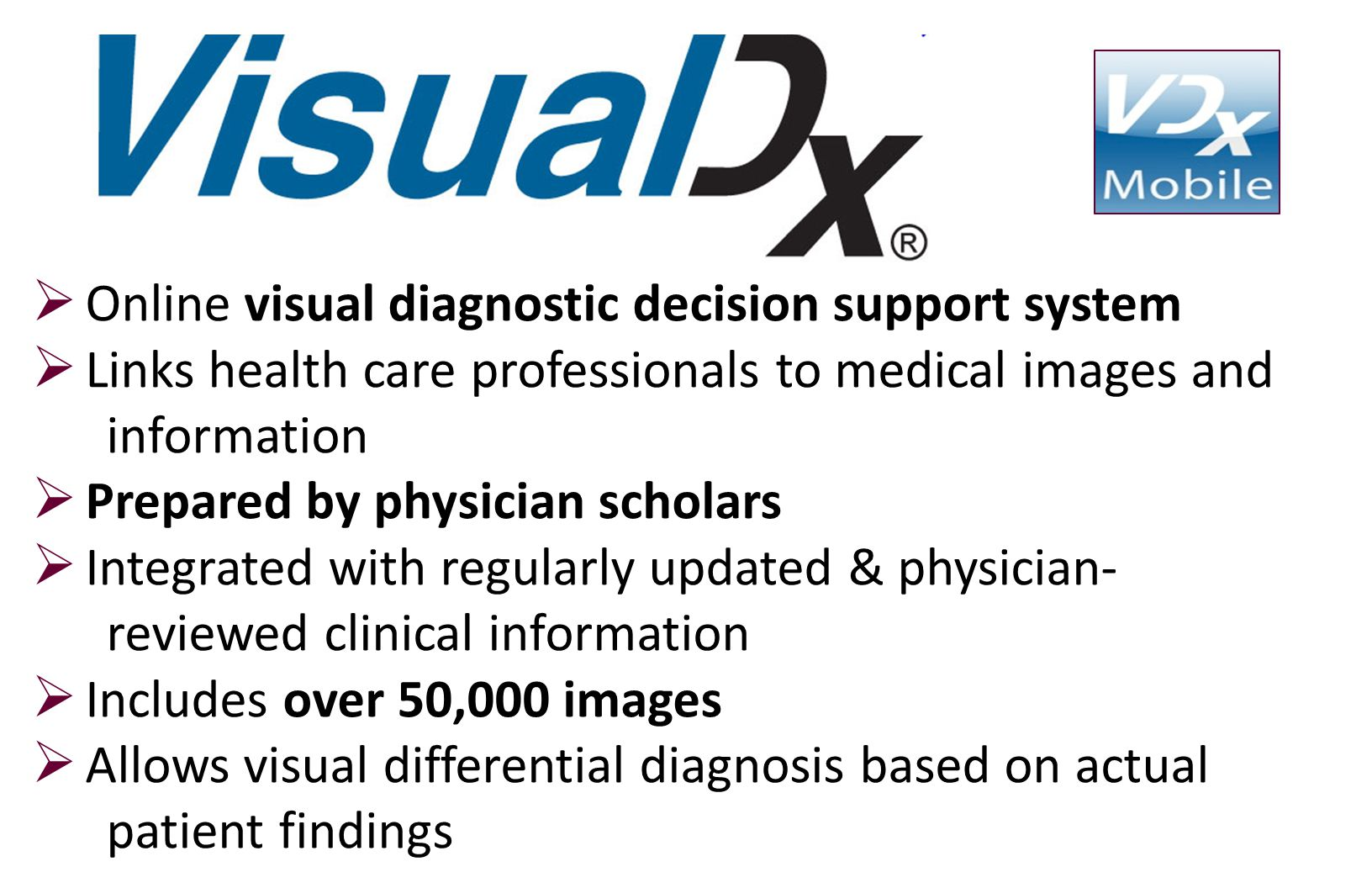 Online visual diagnostic decision support system