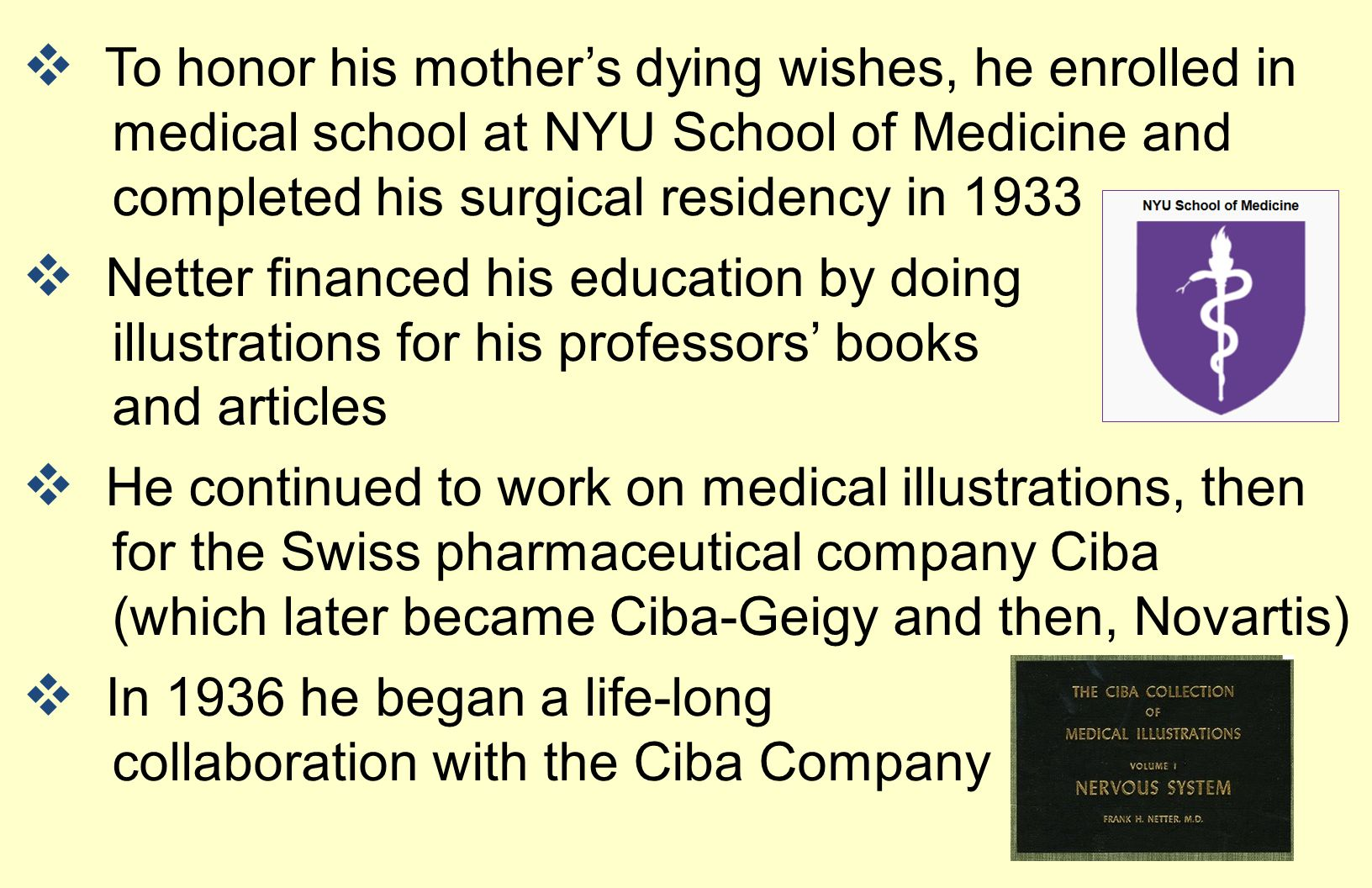 To honor his mother's dying wishes, he enrolled in