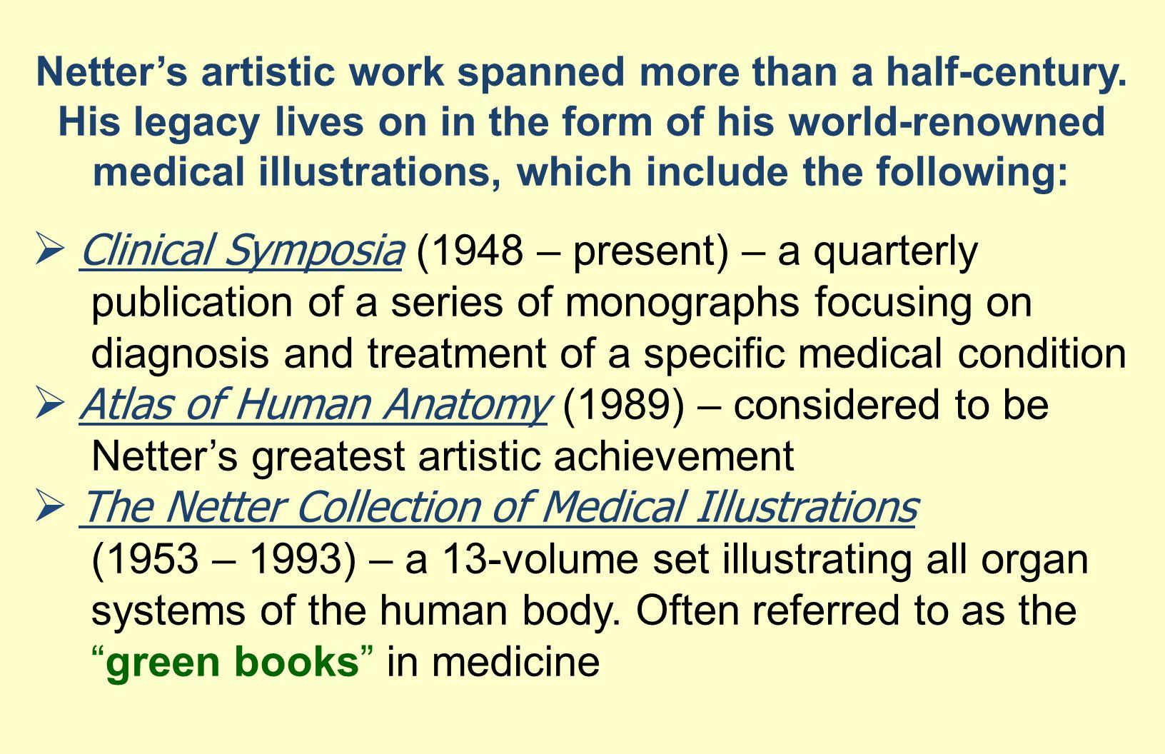 Clinical Symposia (1948 – present) – a quarterly