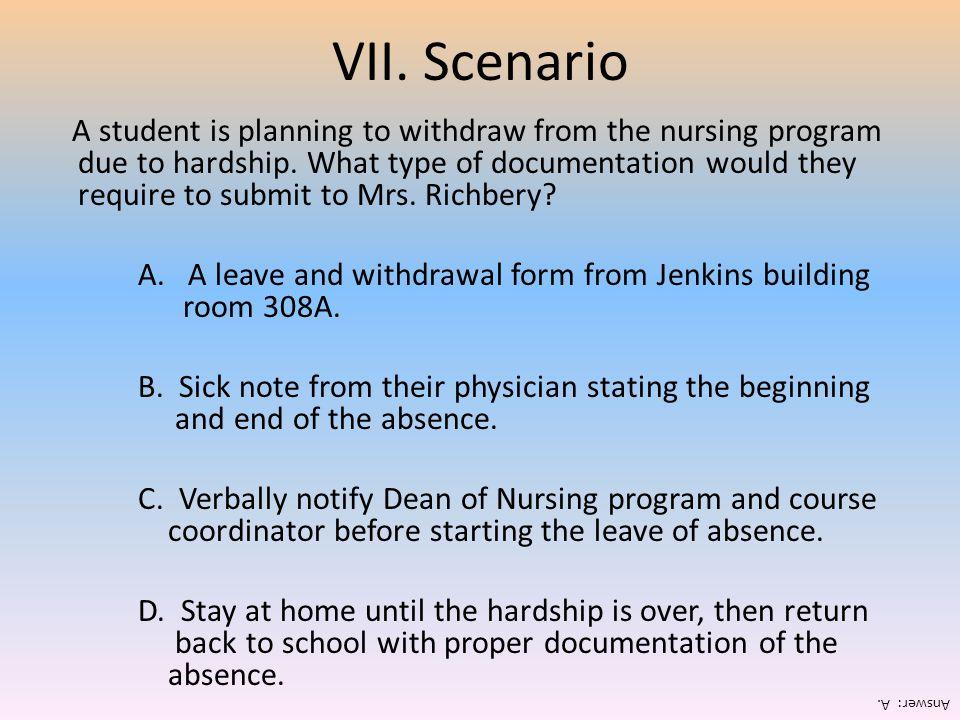 VII. Scenario
