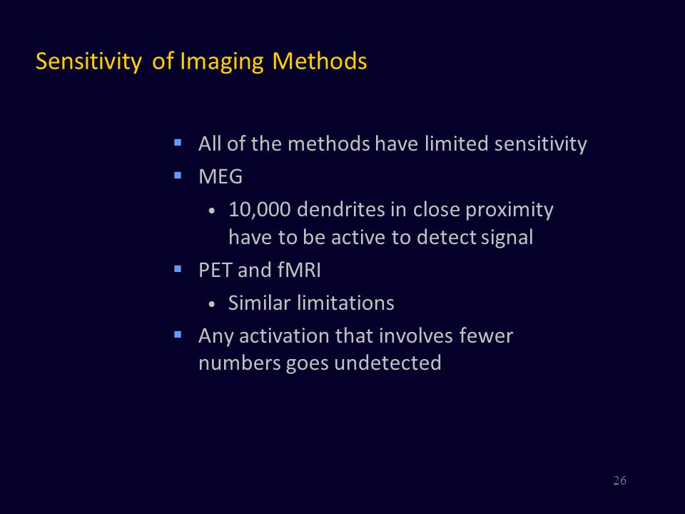 Sensitivity of Imaging Methods
