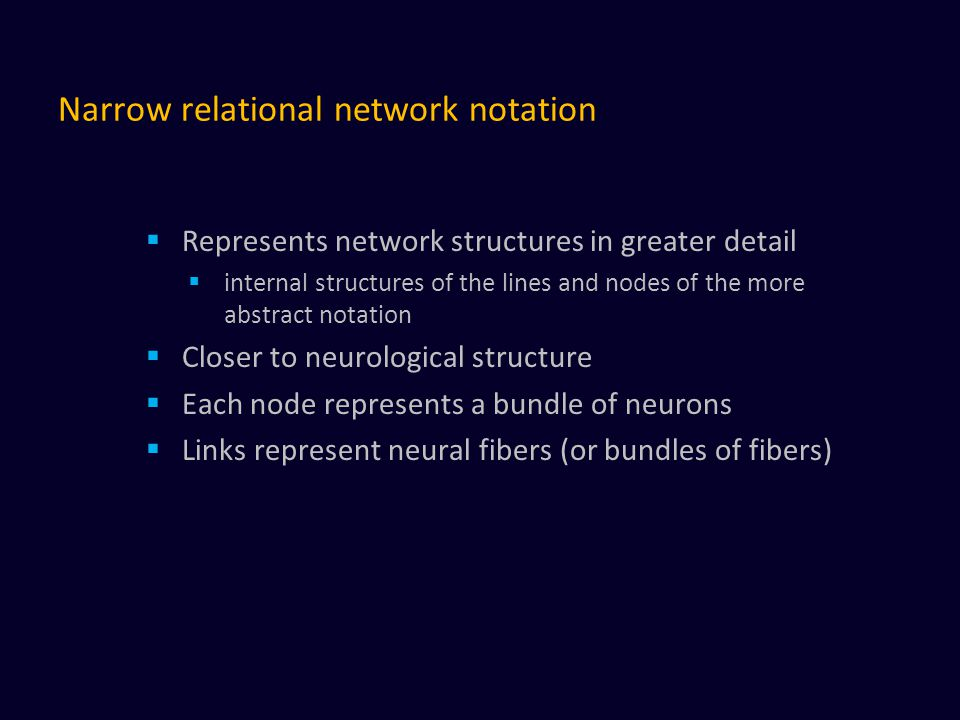 Narrow relational network notation