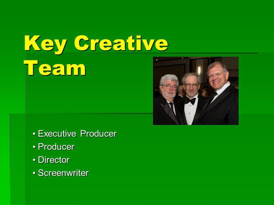 • Executive Producer • Producer • Director • Screenwriter