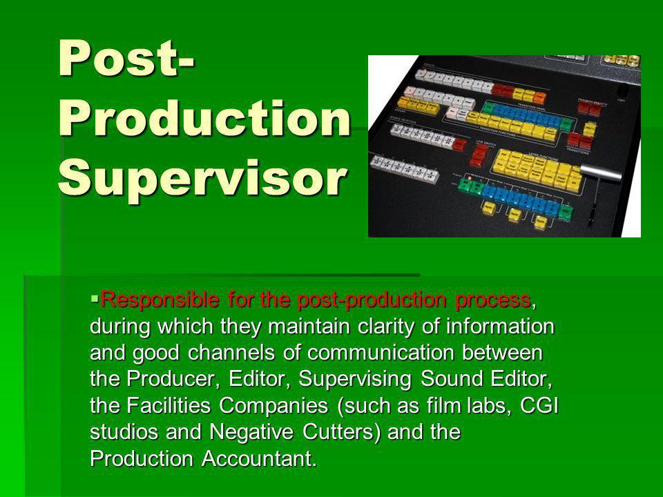 Post-Production Supervisor