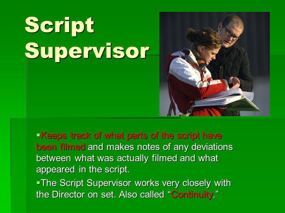 Script Supervisor