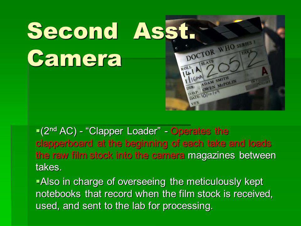 Second Asst. Camera