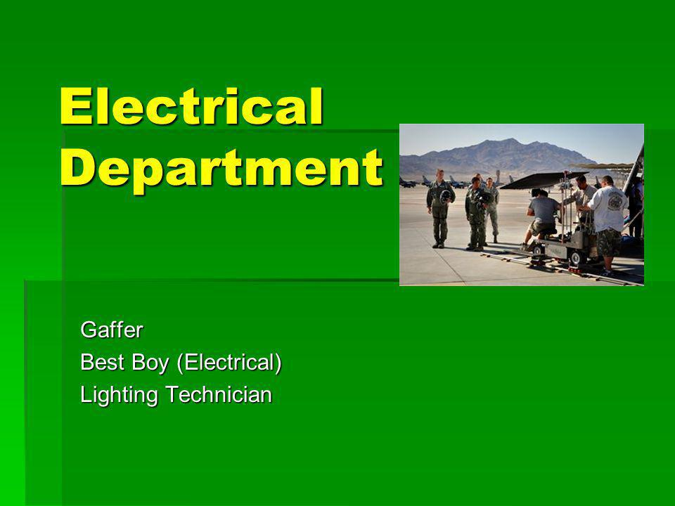Electrical Department