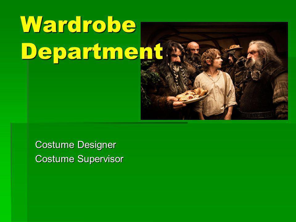 Costume Designer Costume Supervisor